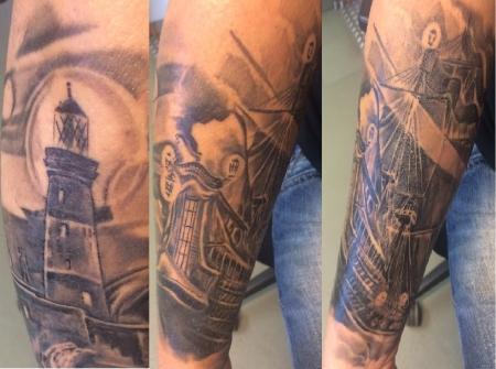 suchergebnisse f r 39 leuchtturm 39 tattoos tattoo lass deine tattoos bewerten. Black Bedroom Furniture Sets. Home Design Ideas