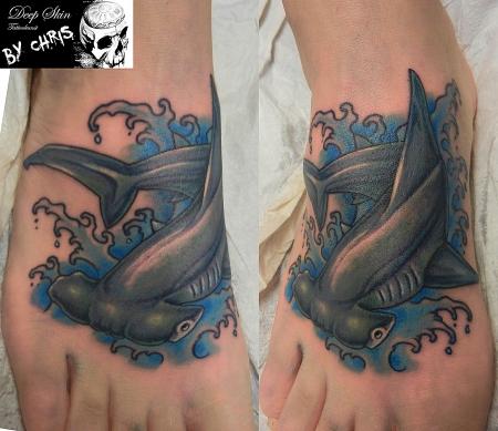 Hammerhai Fußrücken