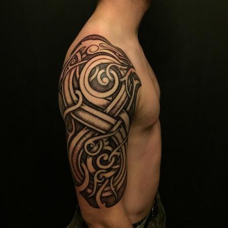 urnes stil tattoo/Dotwork