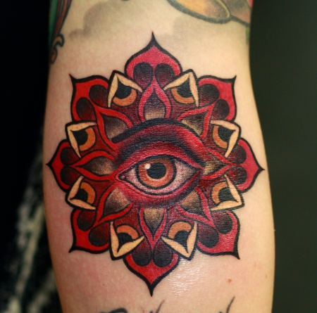 Mandala Auge Armbeuge