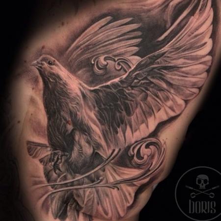 taube-Tattoo: Friedenstaube