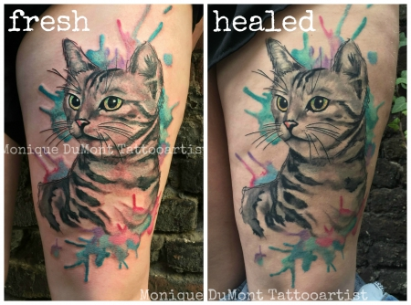 missteriousfrommars watercolortattoo katze scribble. Black Bedroom Furniture Sets. Home Design Ideas