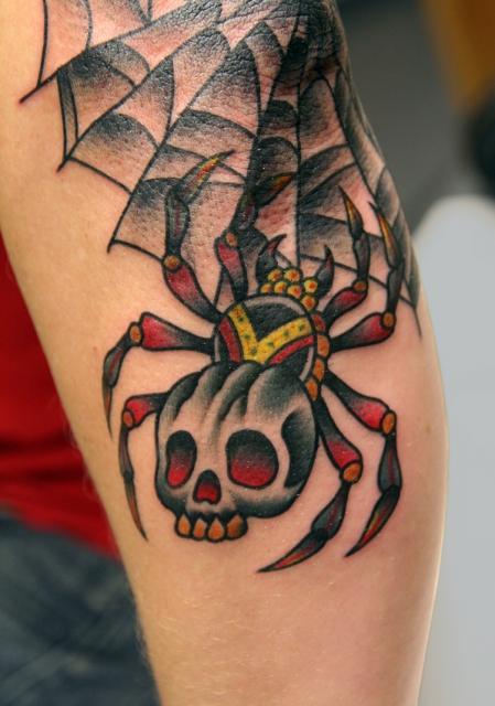 spinne-Tattoo: Spinne