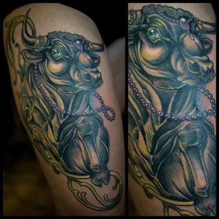 stier-Tattoo: Stier
