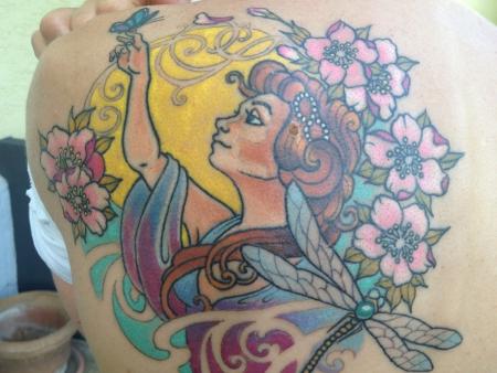 libelle-Tattoo: Jugendstil