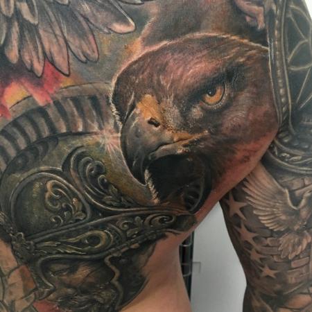adler-Tattoo: Adler Kopf Cover