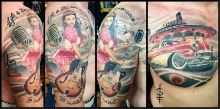 50ies Tattoo 3 JAHRE nach Fertigstellung