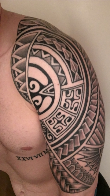 maori-Tattoo: Maori-stil in progress