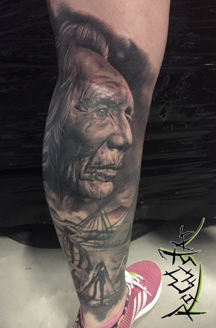indianer-Tattoo: Native