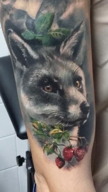 NADELWERK Rosen Fuchs black grey