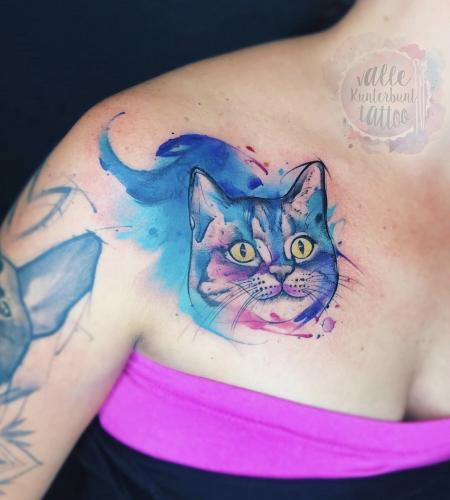 Watercolour Kitty