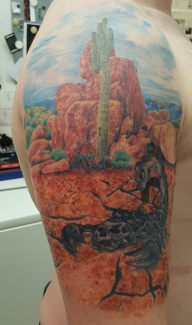 skorpion-Tattoo: 16 Jahre alter Skorpion in Szene gesetzt