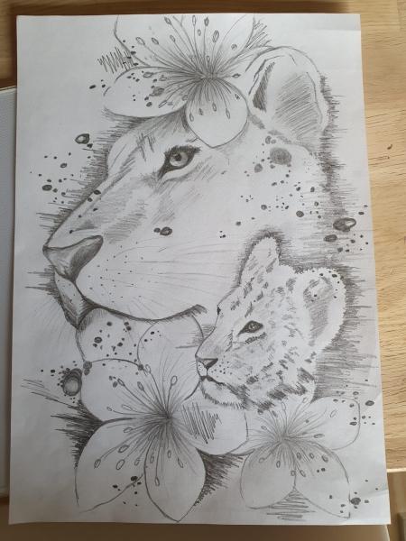 Löwenmama Vorlage