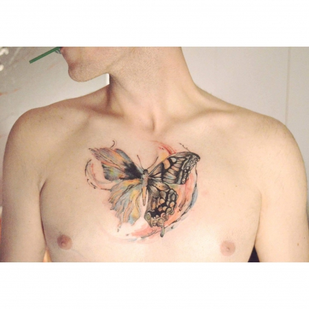 Watercolor Schmetterlin