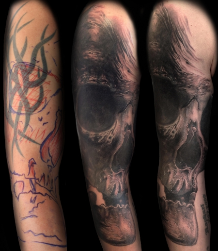 cover-Tattoo: Freehand Cover up