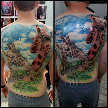 Giraffe Tattoo by Márta aus Pirmasens