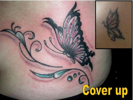Schmetterling Cover Up