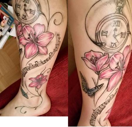 Lilien/Schmetterling Tattoo mit Bedeutung :)