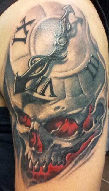 carpe diem-Tattoo: Vergänglichkeit