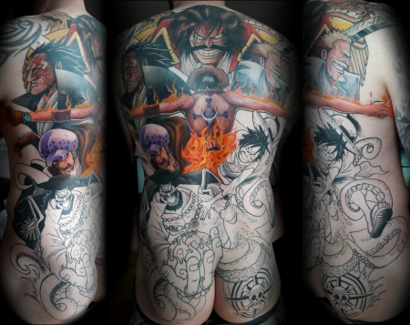 "Anime Backpiece ""One-Piece"" in progress..."
