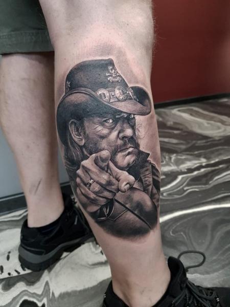 Sterne-Tattoo: Lemmy Kilmister
