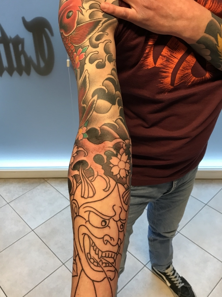 Asia-Sleeve in Progress