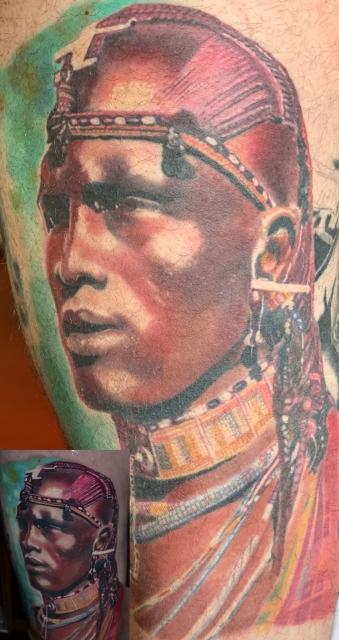 Massai-Krieger Porträt