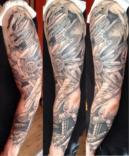 galaidon steampunk drache tattoos von tattoo. Black Bedroom Furniture Sets. Home Design Ideas