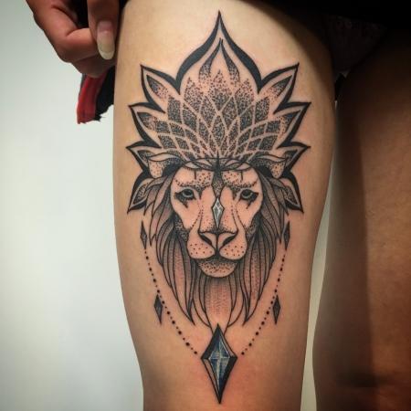 Raikpillmann Mandala Lowe Tattoos Von Tattoo Bewertung De