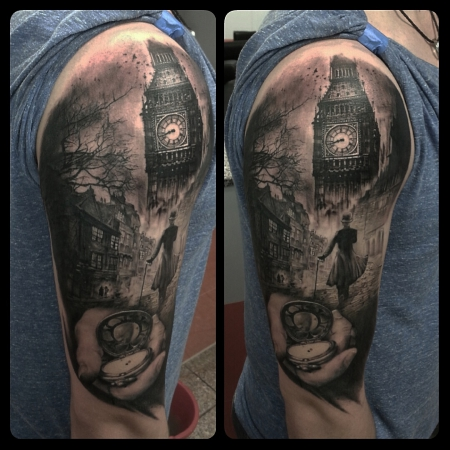 uhren-Tattoo: oldLondon