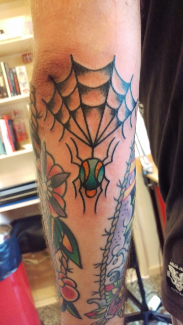 spinne-Tattoo: Spinnennetz