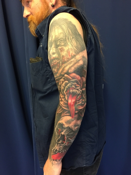 ärmel-Tattoo: cover up zweiter Arm