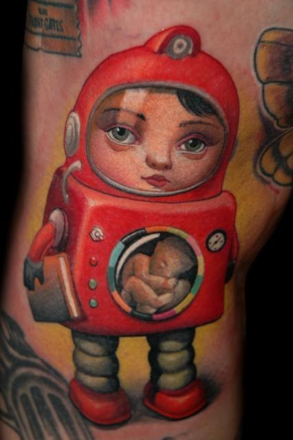 Mark Ryden Tattoo Roboteur