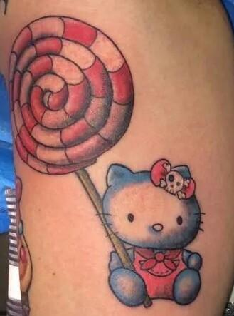 hello kitty-Tattoo: Hello kitty hello big lolli