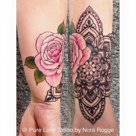 Rose Mandala by PURE LOVE TATTOO Nora Rogge