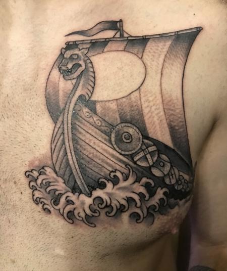 megaherz87 wikingerschiff von moik tattoos von tattoo. Black Bedroom Furniture Sets. Home Design Ideas