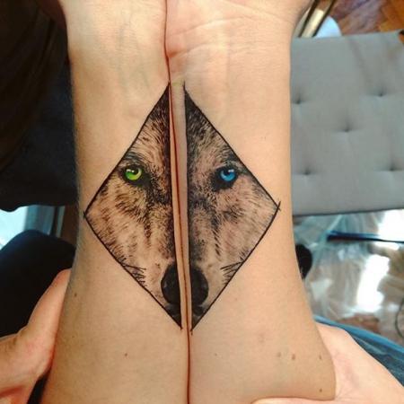 Sisters Tattoo Wolf