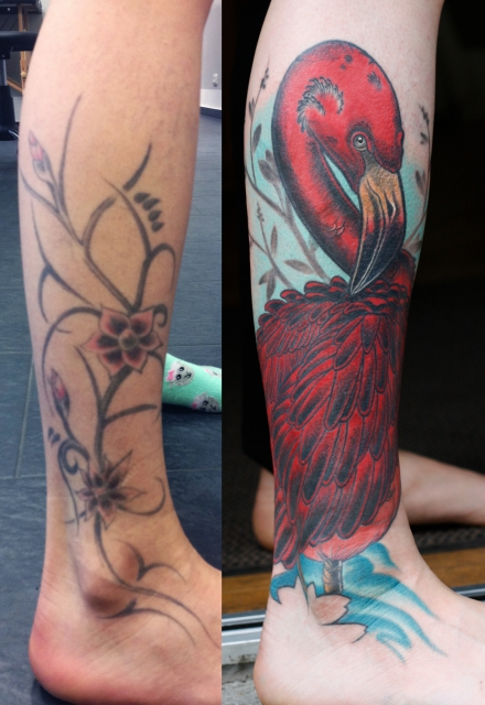 Flamingo Cover Up