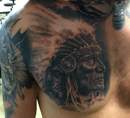 elfen-Tattoo: American Native , done by Constantin Schuldt #tattoodresden