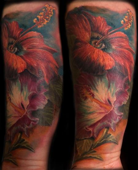 hibiskus-Tattoo: Hibiskus