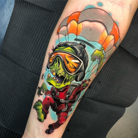Zombie-Fallschirmspringer