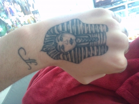 Hand Tattoo Pharao