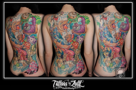 Alice im Wunderland Backpiece