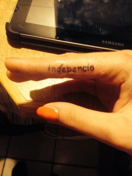 Fingertattoo