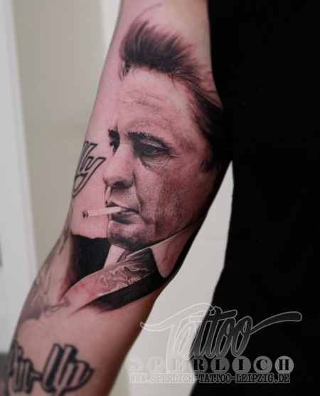 Johnny Cash Porträt - The King of Country Music