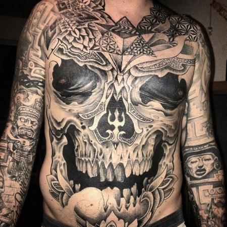 Dotwork Skull in Progress