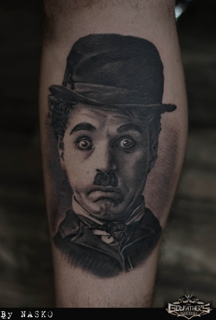 Charlie Chaplin - Godfather's Tattoo Nürnberg - By NASKO