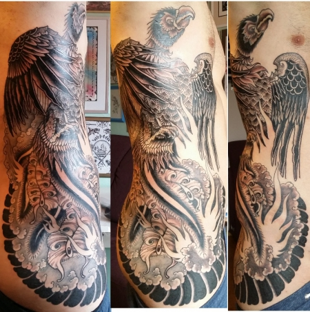 phönix-Tattoo: Phönix aus der Asche