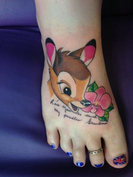 schrift-Tattoo: Bambi Schatz