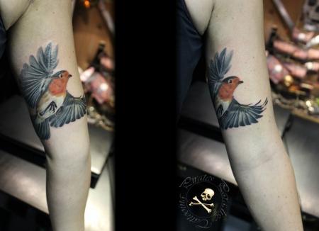 Tattoo Rotkehlchen